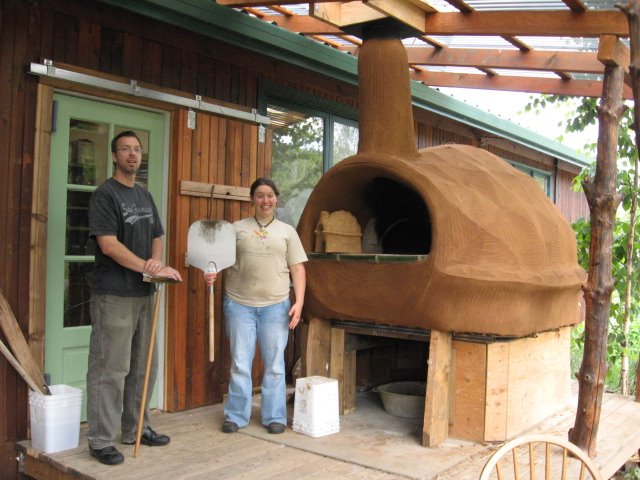 new commercial oven at CSA farm