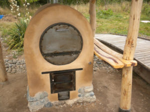 outdoor wood-fired adobe, earthen oven