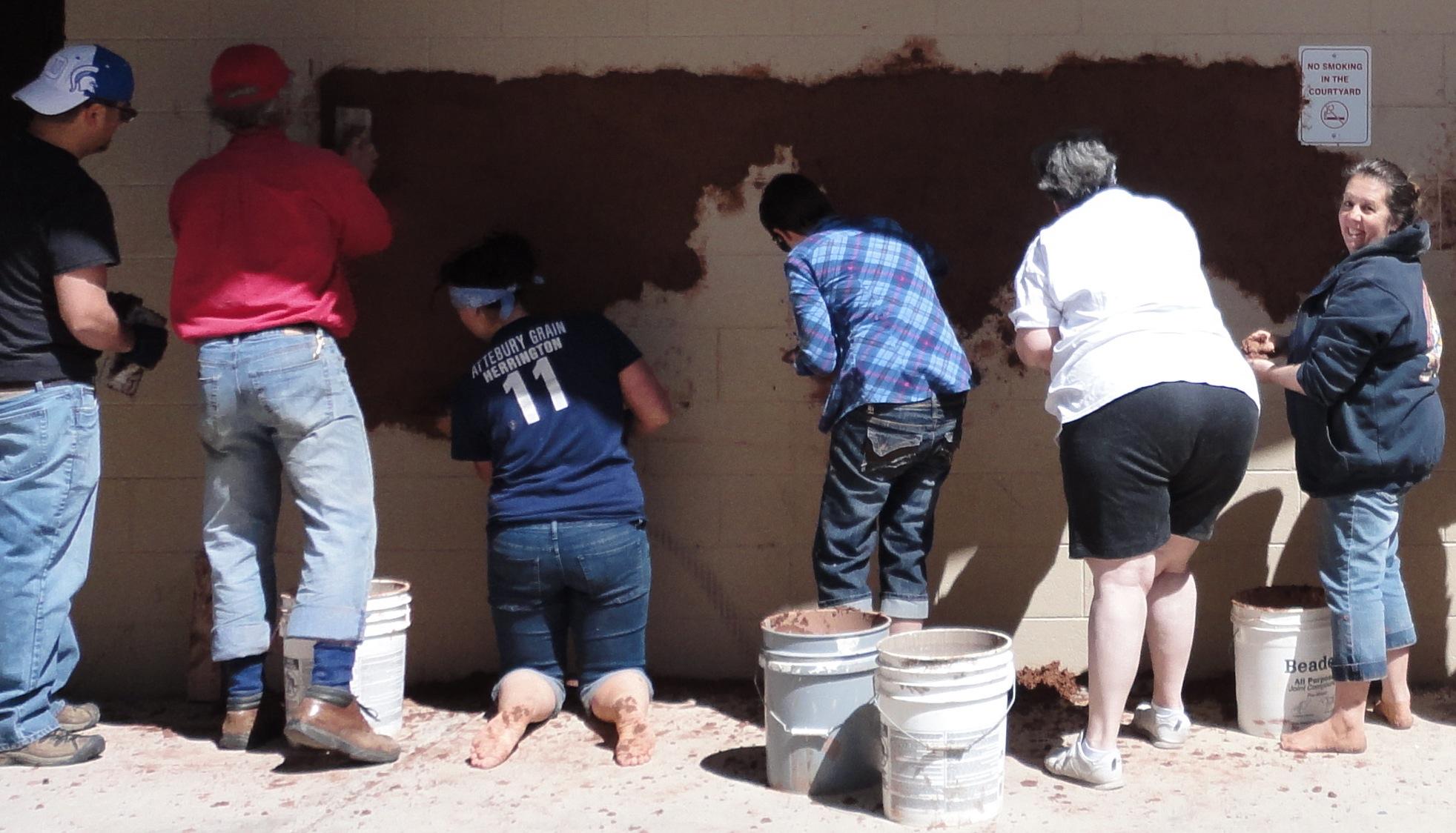 Mud Mural at Colorado State University Pueblo, with Kiko Denzer