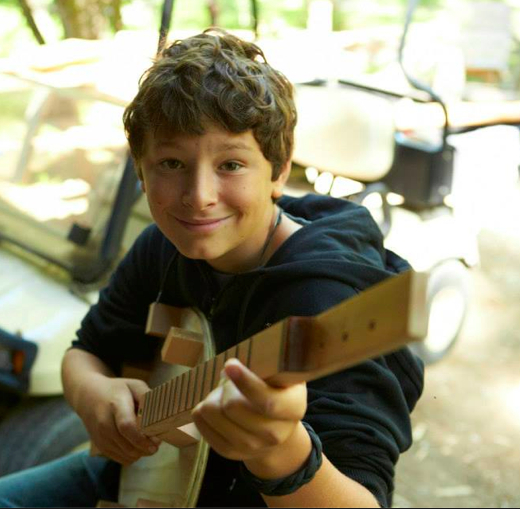 Cardboard dulcimers at summer Camp