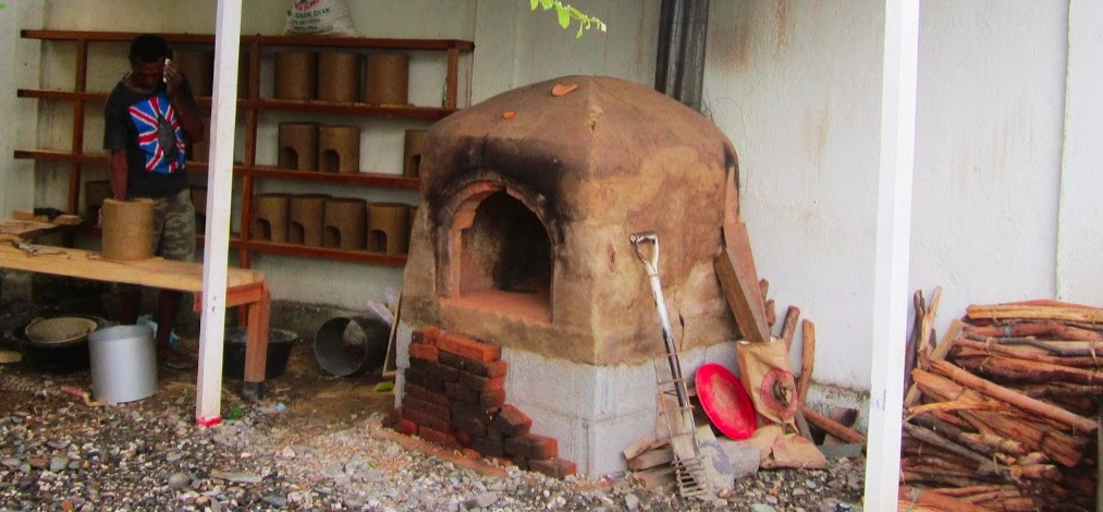 Small wood fired pottery kiln