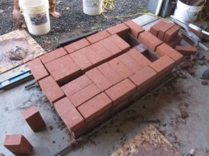 our solids were a bit bigger than the cored bricks, which made for a nice reveal around the edge