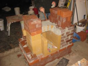 support a 4-brick arch, so it doesn't push the walls apart