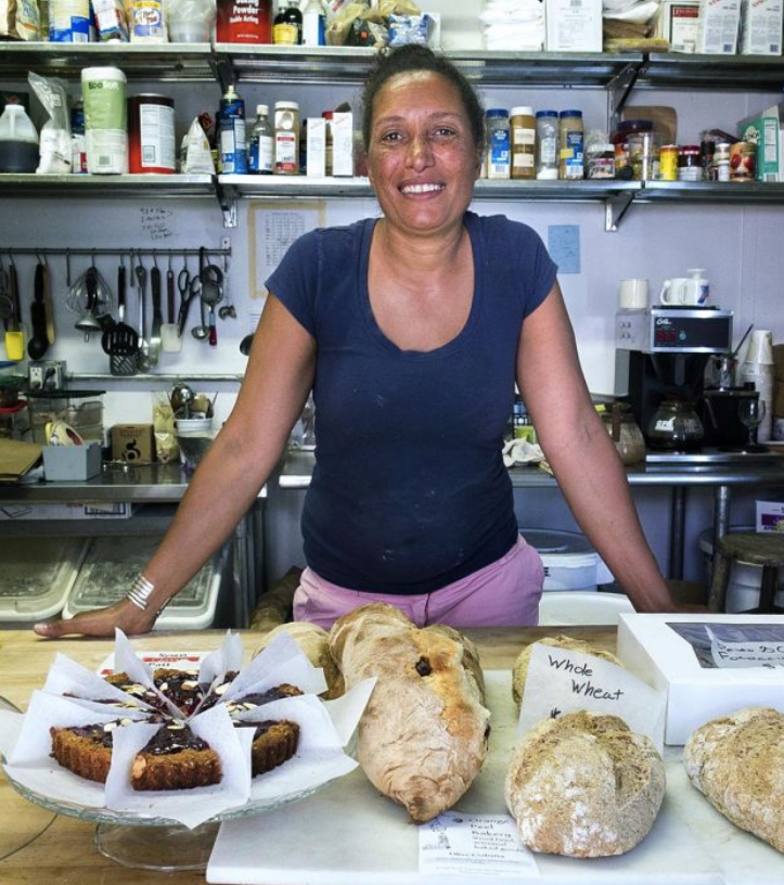 community builder Juli Vanderhoop, a Wampanoag baker who hosts a free, weekly pizza feed on Martha's vineyard